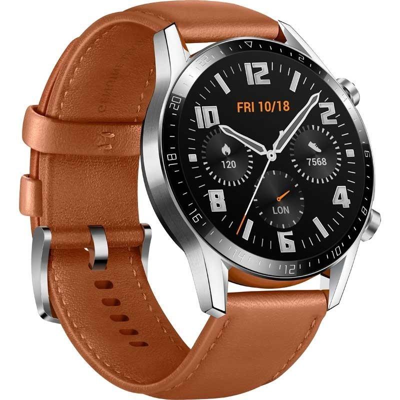 Smartwatch Huawei Watch GT2 46mm Classic Pelle Marrone Europa