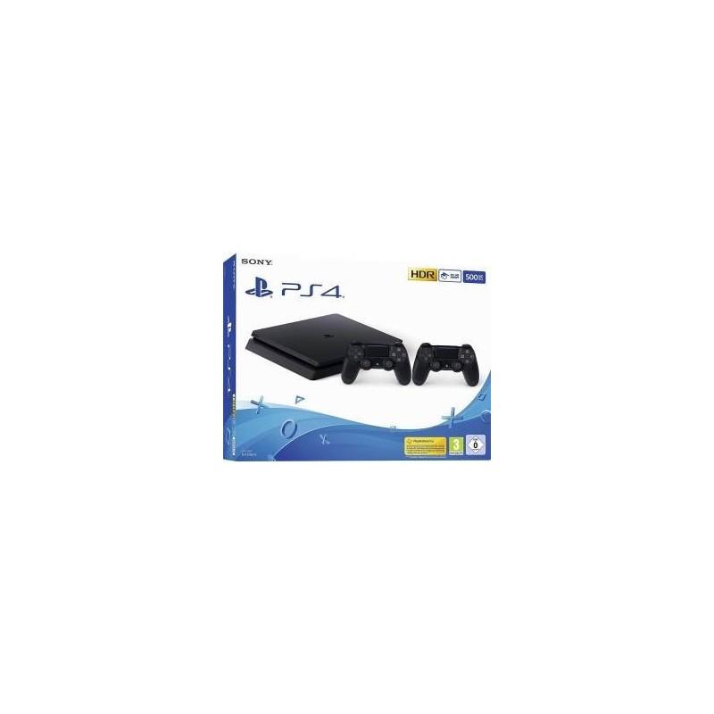 Console PS4 Slim 500GB F CHASSIS Slim + 2 DUALSHOCK V2 Black Europa