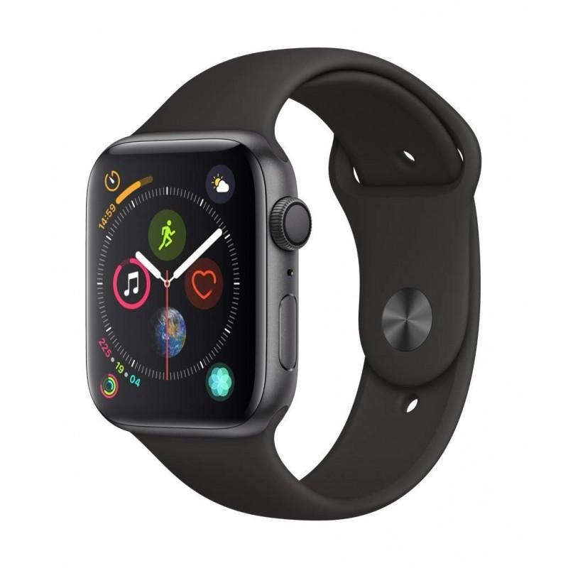 Apple Watch Serie 5 32GB Alu Black Case 44mm Black Sport Band Europa