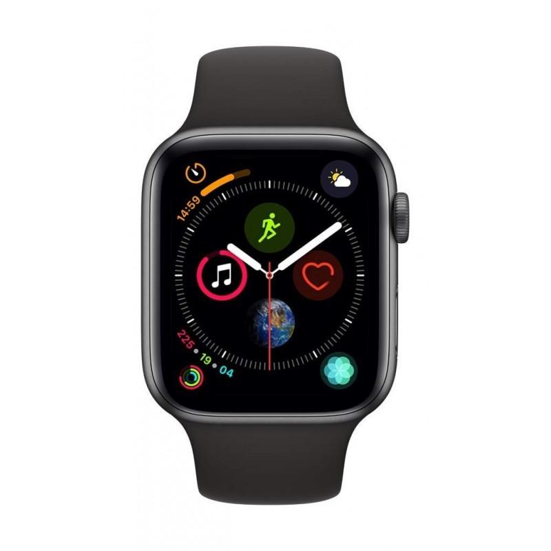 Apple Watch Serie 5 32GB Space Grey Alu Case 40mm Black Sport Band Europa