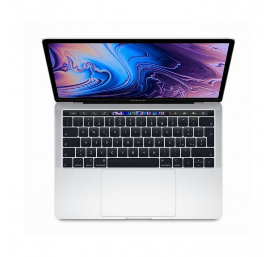 MUHQ2T/A 13 MACBOOK PRO TOUCH BAR 1.4GHZ 4CORE 8THGEN INTEL CORE I5 TURBO BOOST 3,9GHZ, 8GB, 128GB, INTEL 645 SILVER ITALIA