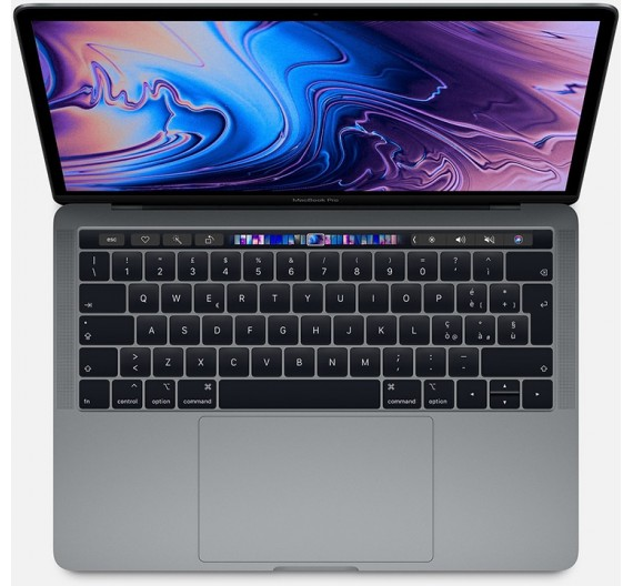 MUHP2T/A 13 MACBOOK PRO TOUCH BAR 1.4GHZ 4CORE 8THGEN INTEL CORE I5 TURBO BOOST 3,9GHZ, 8GB, 256GB, INTEL 645 SPACE GREY ITALIA