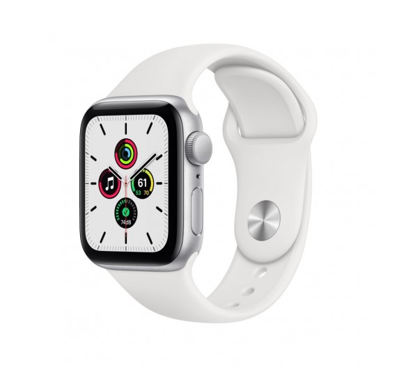 Watch Apple Watch SE GPS 44mm Silver Aluminum Case with Sport Band White Europa