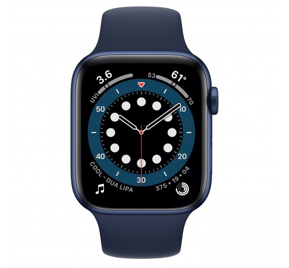 Apple Watch Series 6 GPS 40mm Blue Aluminum Case with Sport Band Deep Navy Europa
