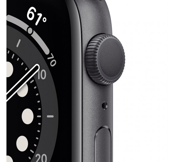 Watch Apple Watch Series 6 GPS 40mm Grey Aluminum Case with Sport Band Black Europa