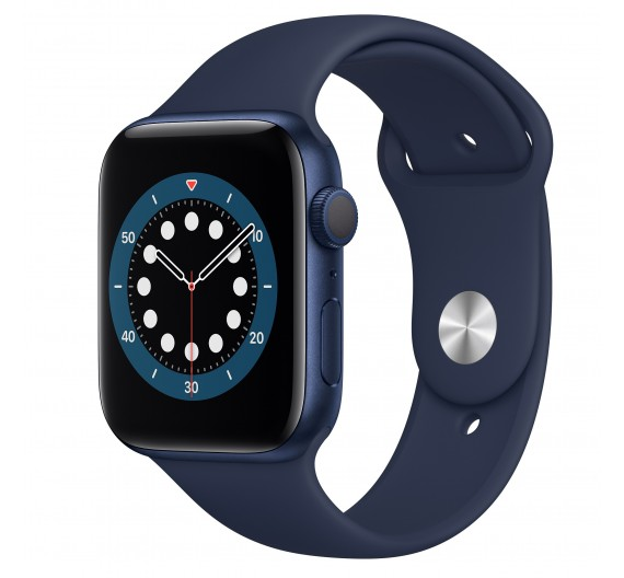Watch Apple Watch Series 6 GPS 44mm Blue Aluminum Case with Sport Band Blue Europa