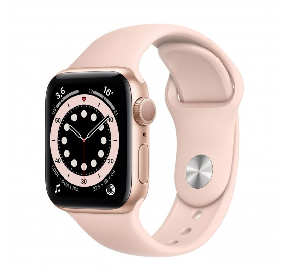 Watch Apple Watch Series 6 GPS 44mm Oro Aluminum Case with Sport Band Rosa Europa