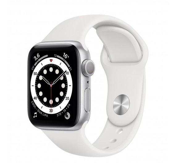 Watch Apple Watch Series 6 GPS 44mm Argento Aluminum Case with Sport Band Biando Europa